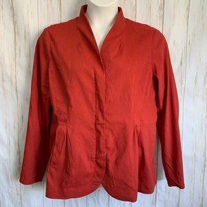 Eileen Fisher Blazer Jacket Full Zipper Red